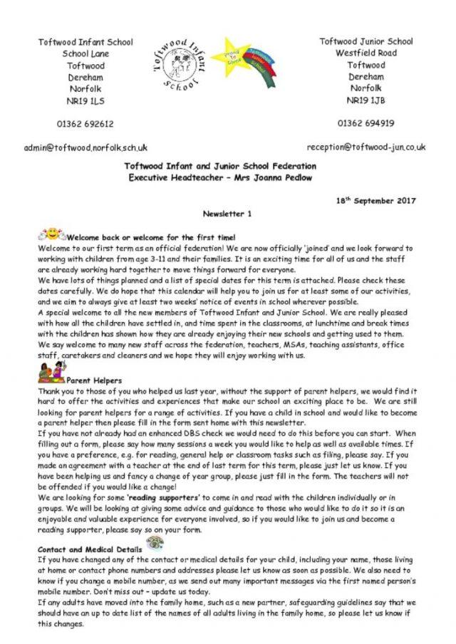 thumbnail of Newsletter 1