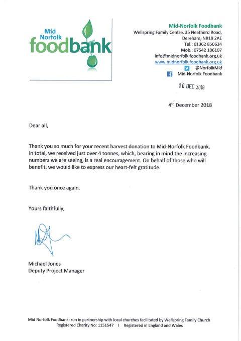thumbnail of Mid Norfolk Foodbank
