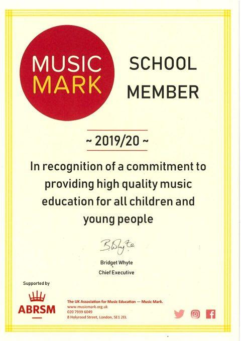 thumbnail of Music Certificate